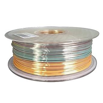Amazon.com: Filamento para impresora 3D Silk Rainbow ...