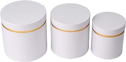 scatole decorative con motivo a righe bianco e nero scatole per fiori rotonde verde con scritta Best for You in bianco rosa a righe Set di 3 scatole rotonde con coperchio rosa bianco
