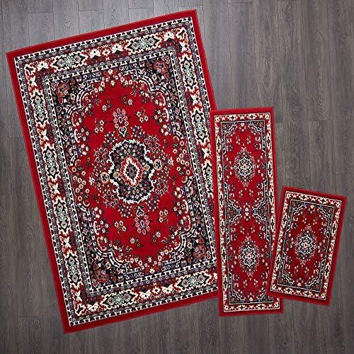 Home Dynamix Ariana Ksara Area Rug 3 Piece Set 4'11″ x6'11,1'8″ x4'11,1'8″ x2'8