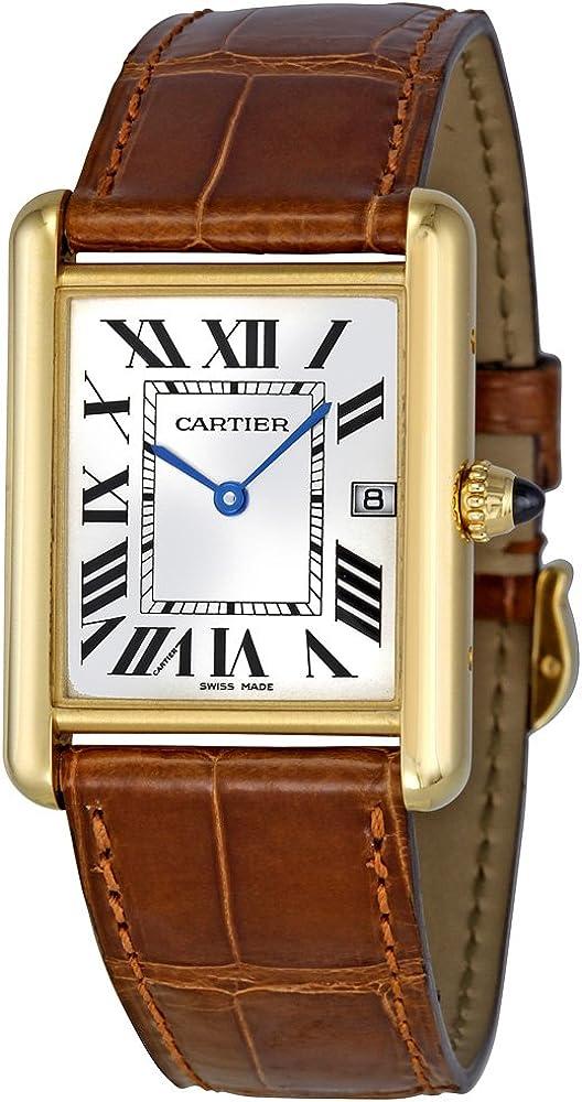 Amazon.com: Cartier Men's W1529756 Tank Louis 18kt Yellow Gold Watch: Watches