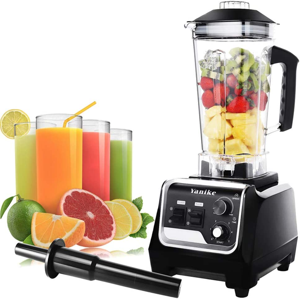 Professional Countertop Blender, 2200W High Power Home and Commercial Blender for Shakes and Smoothies with 70 Oz BPA Free Tritan Container, Built-in Timer Smoothie Maker Mixer for Kitchen, Crushing Ice, Frozen Dessert (Black)