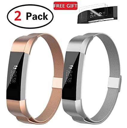 Stainless Steel Magnetic Wristband Bracelet Strap Band For Fitbit Alta//Alta HR