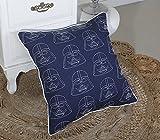 DecorHouzz Darth Vader Star wars Embroidered Pillow Cases Cushion Cover Teen Children Standard Decorative Gift Birthday Kids 18''x18'' (18X18, Darth Embroidered)