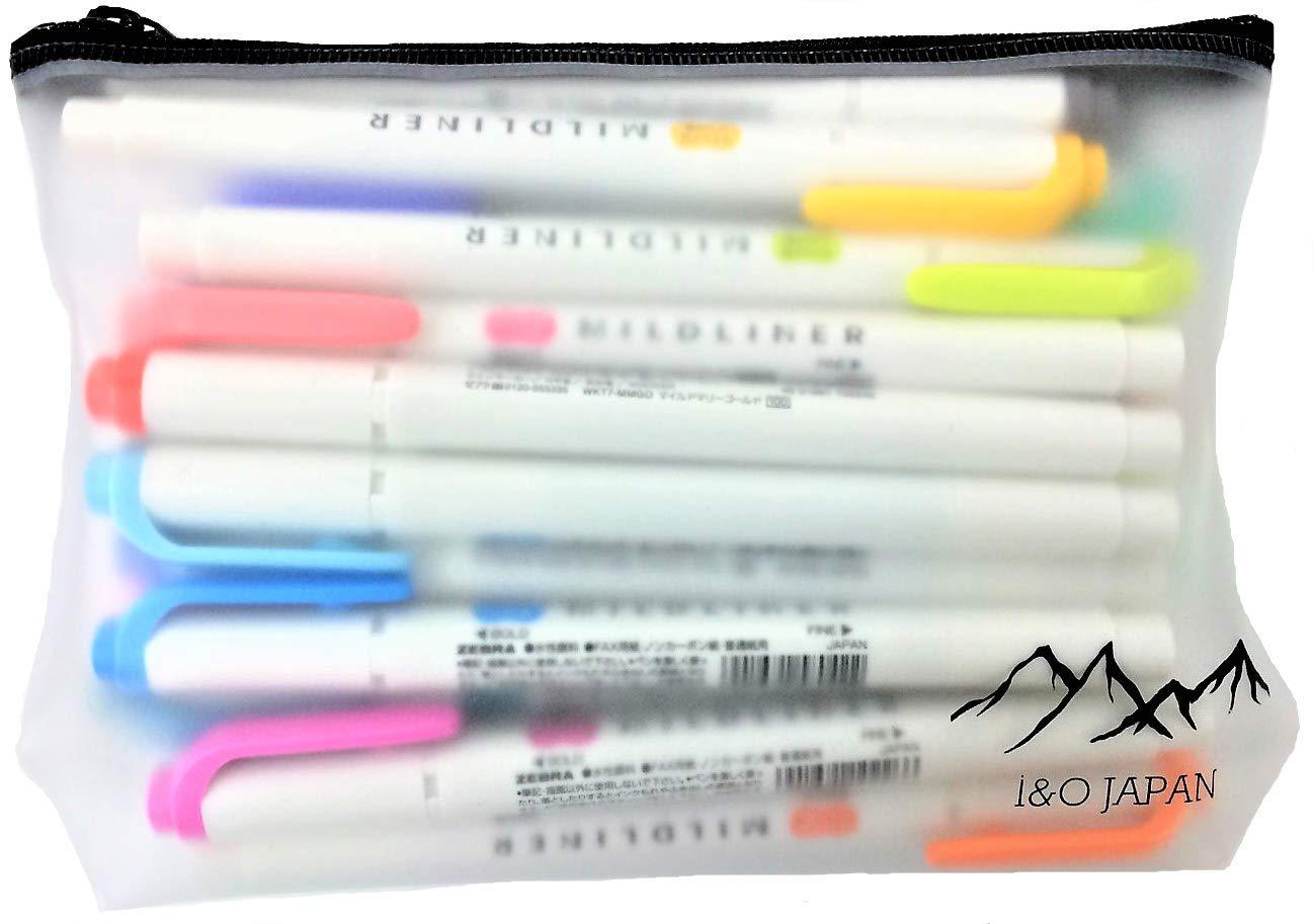 Zebra Mildliner Soft Color Double-Sided Highlighter Pens 25 Full Color Set with Original Vinyl Pen Case Standard 15 Color + New 10 Color