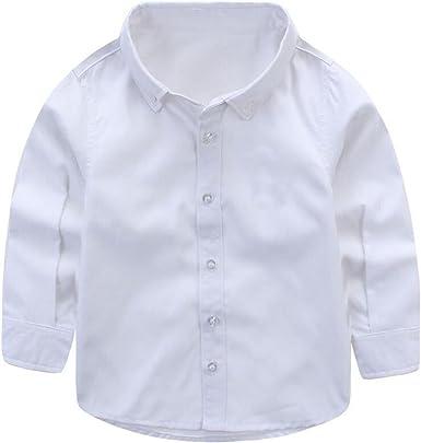 ZGJQ Muchacho Niños Bebé Niños Camisa Blanca Blusa De La ...