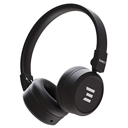 [Apply coupon] EDICT by Boat EWH01 On-Ear Wireless Headphone with Punchy Bass, AUX Connectivity, Up to 10H Nonstop Audio Time, Lightweight Padded Ear Cushions, Mic & Instant Voice Assistant(Black)