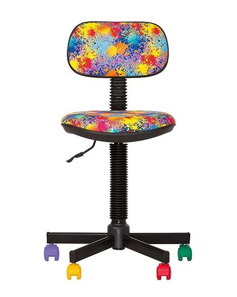CHAISE-EXPERT BAMBO- Sedia da Ufficio per Bambini, ergonomica, Altezza  Seduta 42 cm-56 cm. Altezza Schienale Regolabile/Girevole a 360°/Ruote ...