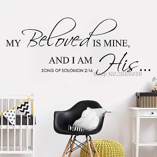 CDNY Versículo bíblico Vinilo Tatuajes de Pared Mi Amado es mío ...