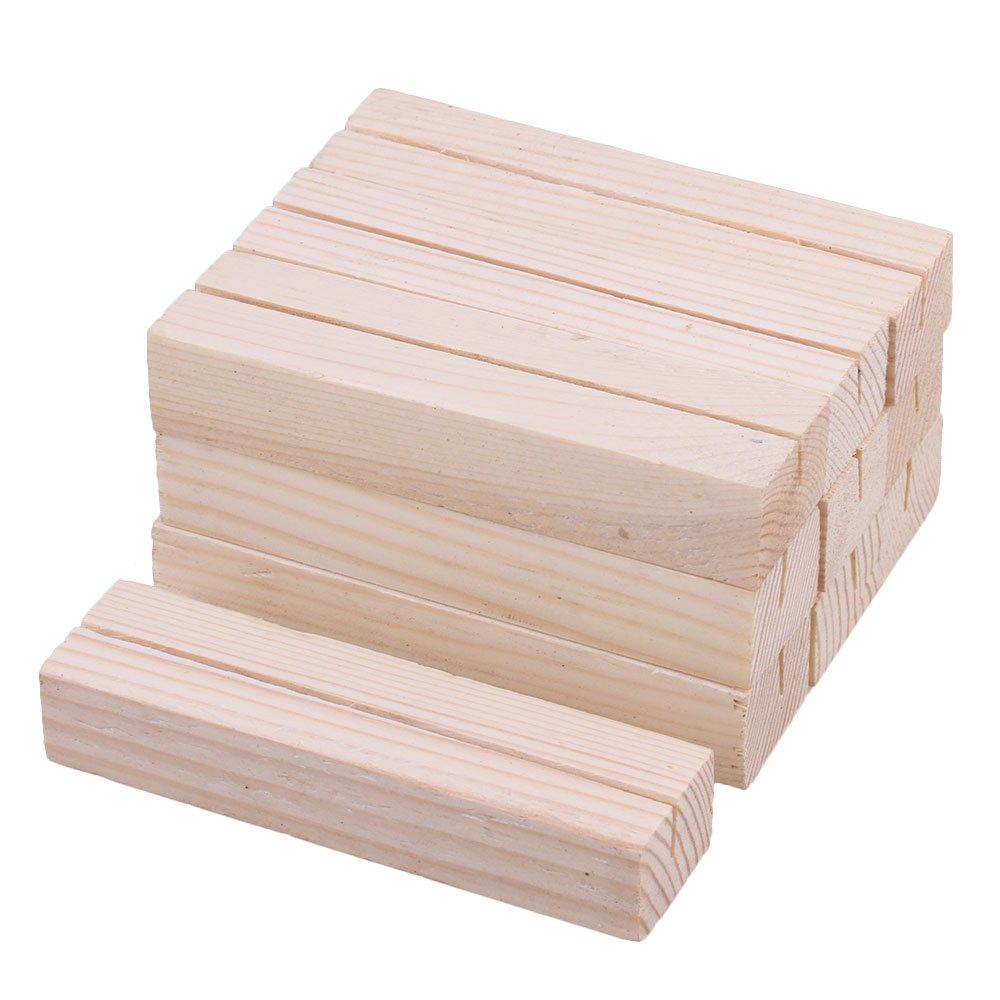 BQLZR 10x2, 7x1, 8 cm Kiefer Holz Farbe Holz Visitenkarte Postkarte Halter Konservierungsmittel f¨¹r Schreibtisch B¨¹ro Hotel Display Pack von 10