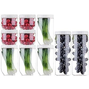 Recipiente Apilable De Alimentos, Lata De Plástico Sellada, Cajón Para Verduras, Productos Secos