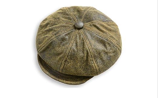 98924004 New York Hat ニューヨークハット ANTIQUE LEATHER SPITFIRE 9245 キャスケット 2色  /nyg501214102 (M