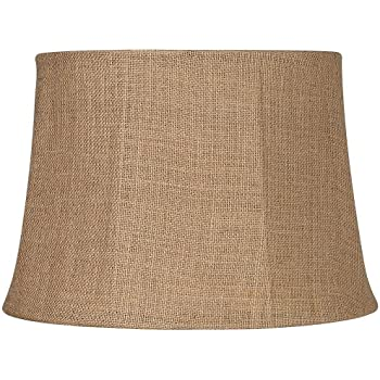 Natural burlap large drum lamp shade 13x16x11 spider amazon natural burlap large drum lamp shade 13x16x11 spider aloadofball Choice Image