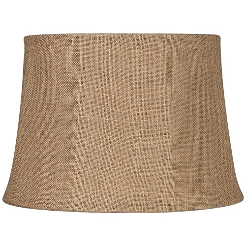 Lamp shades for large lamp amazon natural burlap large drum lamp shade 13x16x11 spider aloadofball Image collections