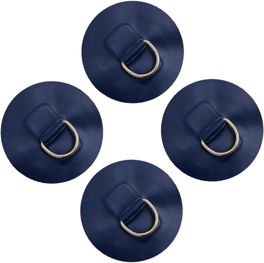 6 Stück D-Ring Pad Augplatte Befestigungshaken Für PVC Schlauchboot Blau