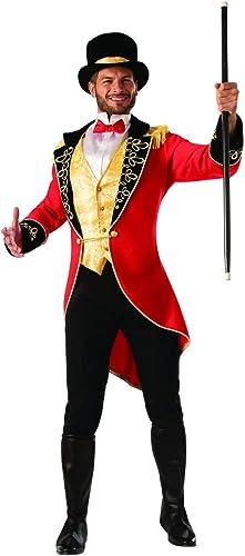 Disfraz De Ringmaster Con Cuello Rojo Chaqueta Y Mini Sombrero De Copa-Para Adultos Damas