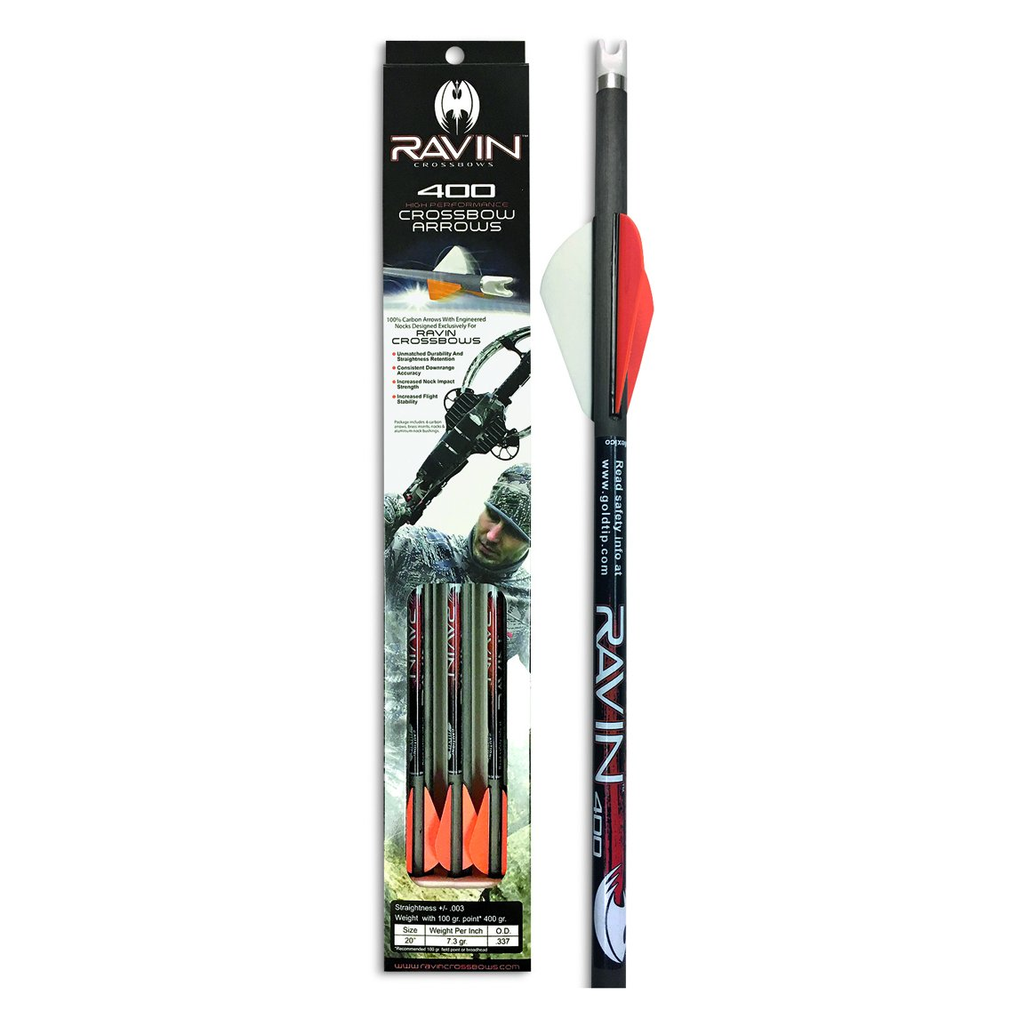 Ravin Carbon Arrows, 400 Grain, 6 Pack