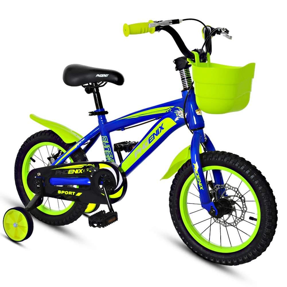 CHS@ 子供の自転車2-4-6歳の赤ちゃんバイクガールサイクリング少年のベビーカー子供のマウンテンバイク 子ども用自転車 (色 : Blue-red, サイズ さいず : 14