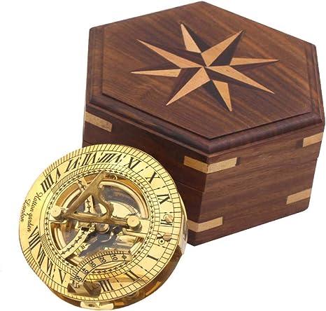 Vintage Elegant Compass Desk Decor Nautical Marine North Magnetic Compass W