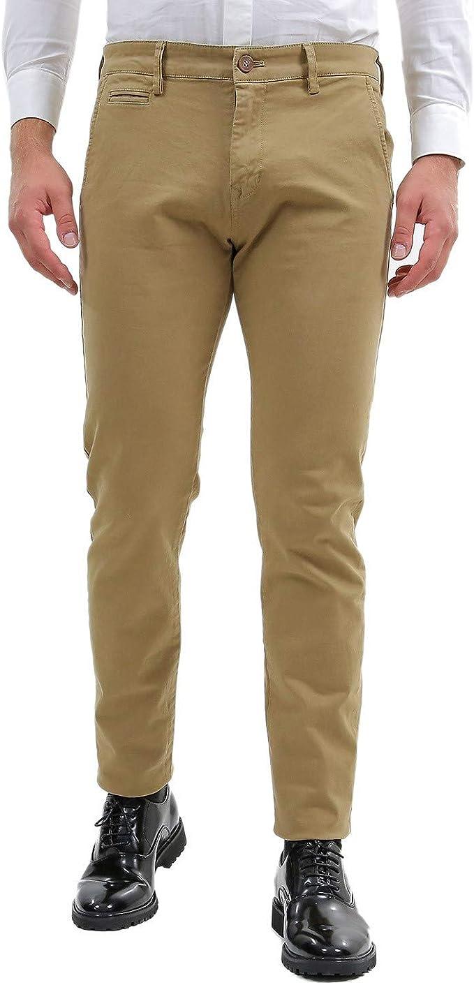 Pantaloni uomo slim fit autunno inverno tasche america blu nero grigio casual