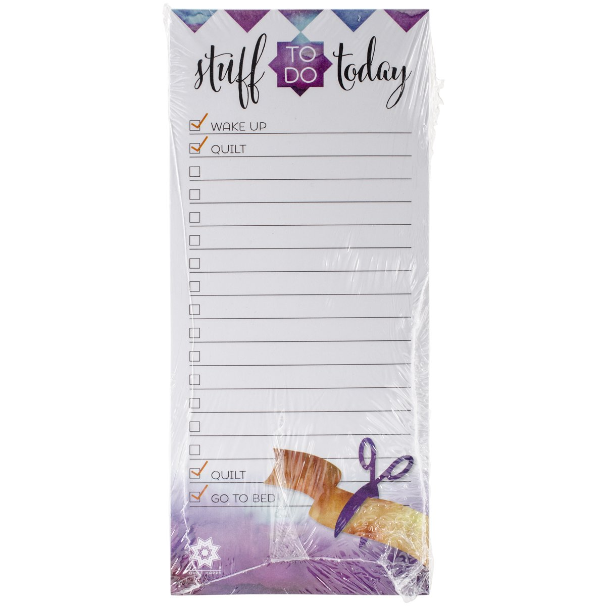 K1C2 QH422 100 Sheets of Quilt Happy to Do List Pad
