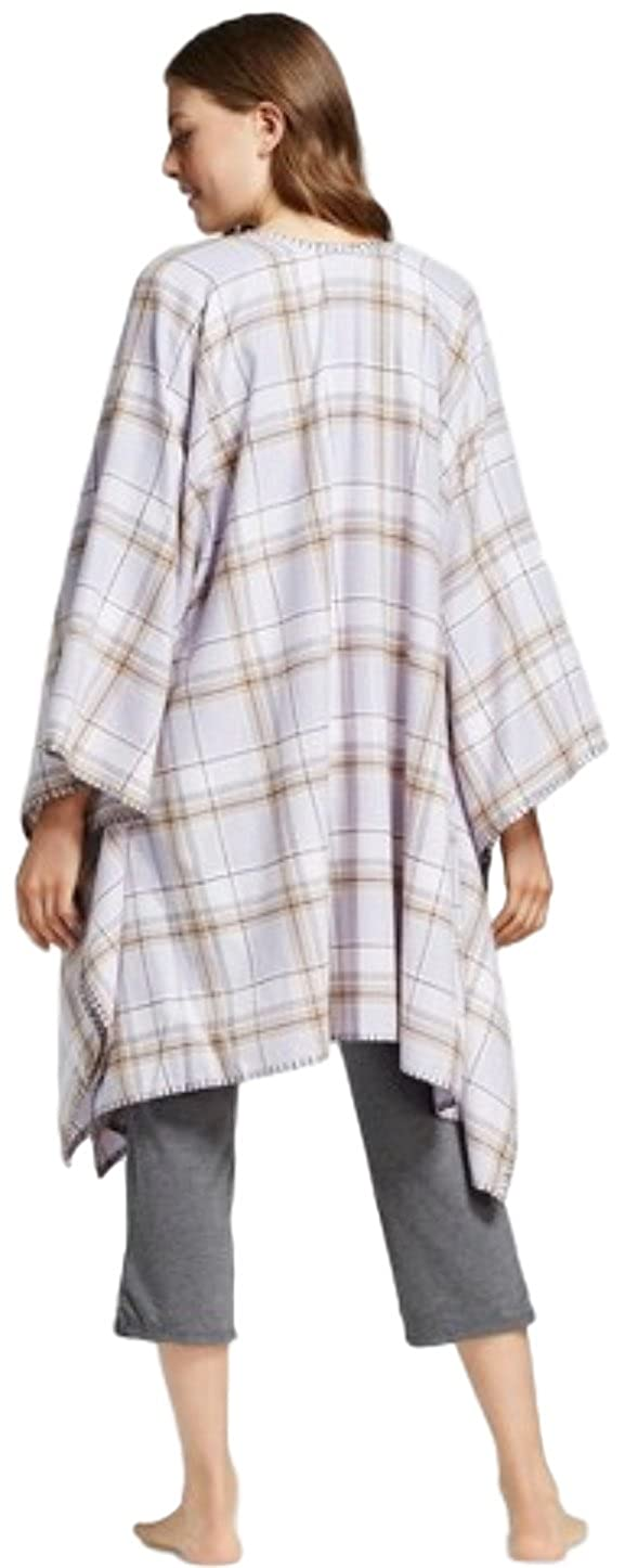 fe40a28a5b Gilligan and O Malley Women s Flannel Wrap Pajama (Purple Plaid) at Amazon  Women s Clothing store
