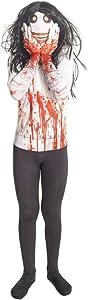 Morphsuits Jeff The Killer Urban Legends Kids Costume, Black/White - size Large 4'-4'6 (120cm-137cm)