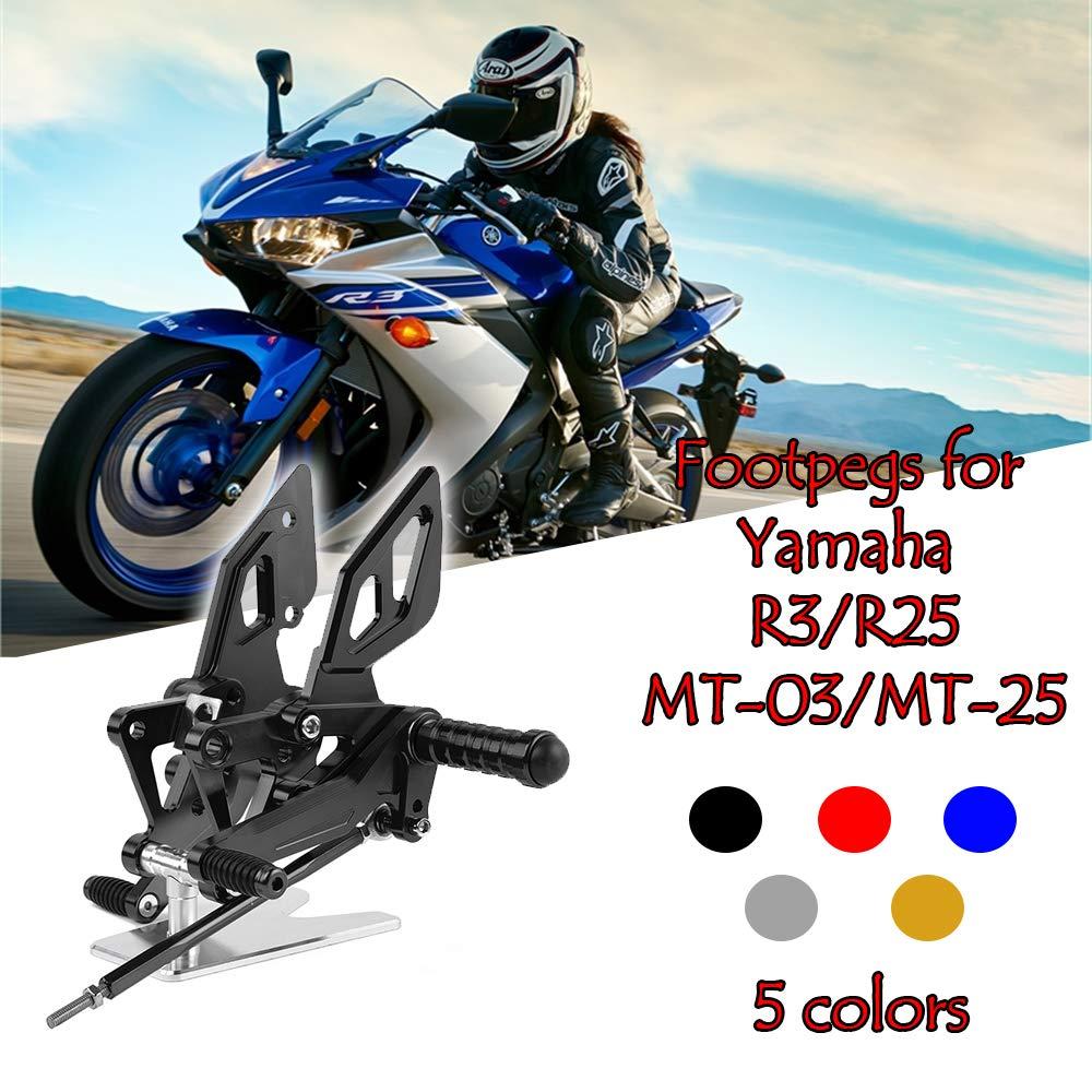 Amazon.com: Motorcycle CNC Adjustable Rearsets Rear Set ...