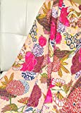 Handicrunch Mystic Fawn King Kantha Reversible Quilt. Handmade By Artisans of Rajasthan, India Superior Quality