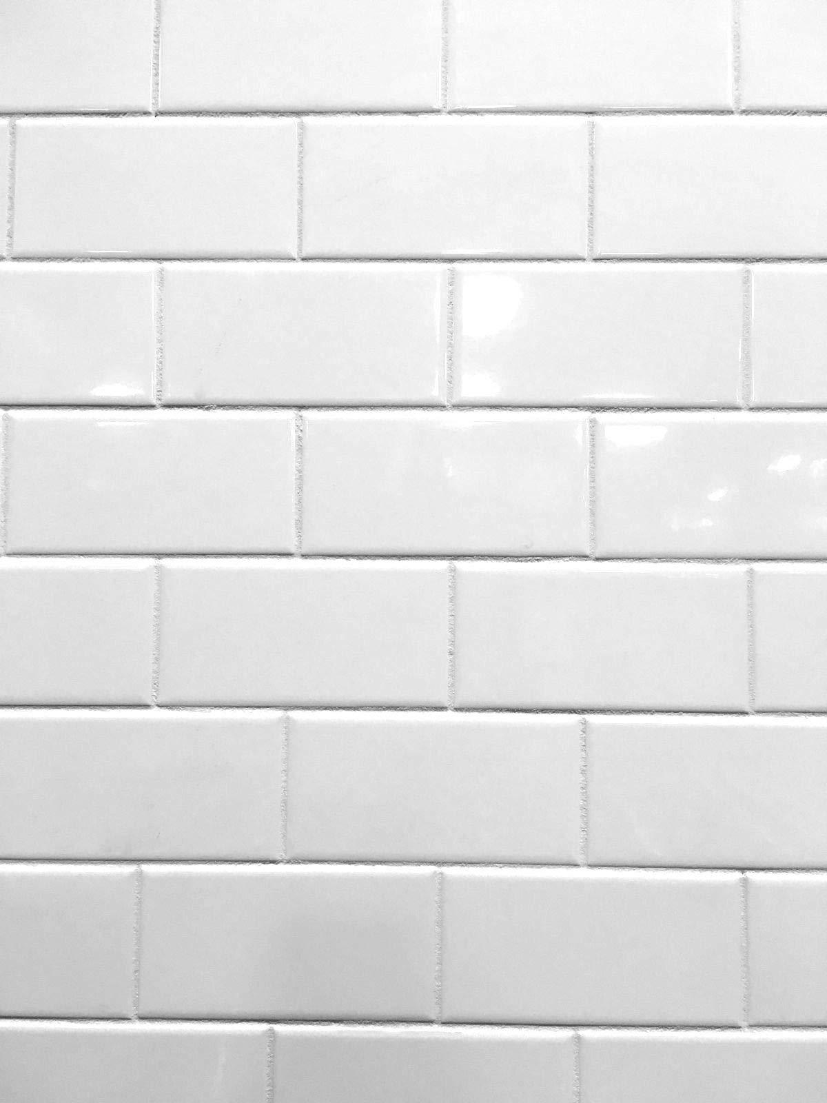 3x6 White Glossy Ceramic Subway Tile Wall Backsplash Made in USA (Full Box 100) by Squarefeet Depot