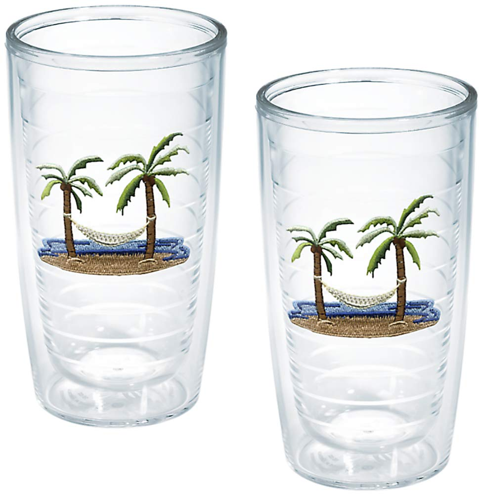 TERVIS Tumbler, 16-Ounce, ''Palm Trees and Hammock'', 2-Pack , Clear - 1035967