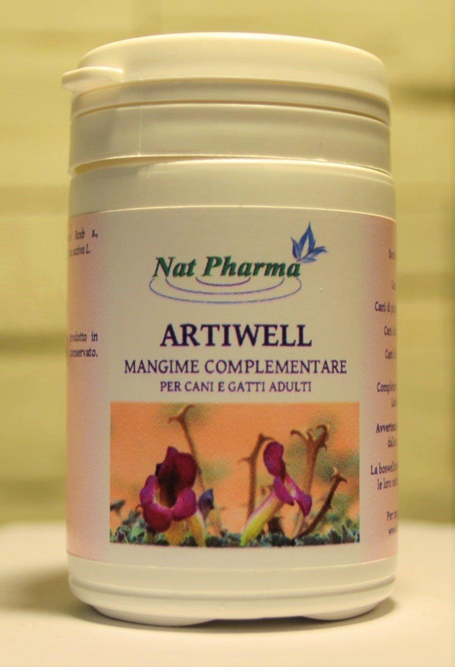 ARTIWELL 30 GR - (formule en poudre) Anticorps naturel et anti-inflammatoire pour chiens et chats - Traitement du rhumatisme et inflammation articulaire chez les animaux - Phytothérapie vétérinaire pour rendre les articulations, les ligaments, les tendons