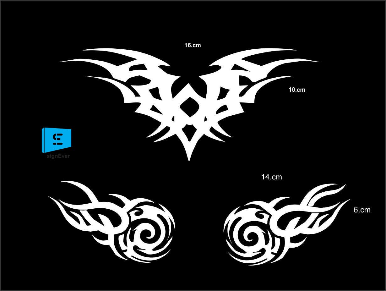Sign ever helmet sticker vector wings for bikes mask pulsar honda bajaj ktm duke yamaha bike sticker for helmet color white l x h 16 x 10 and 14 x 6 cms