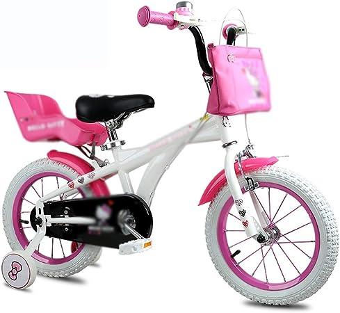 Bicicletas Niños Montaña Herramientas De Viaje para Estudiantes Niña De Dibujos Animados Linda 12 Pulgadas Hermoso Regalo: Amazon.es: Hogar