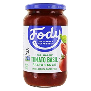 Fody - Salsa para pasta baja en tomate y albahaca FODMAP - 19.4 oz.: Amazon.es: Salud y cuidado personal