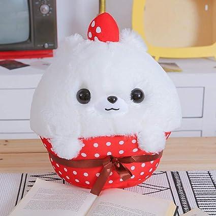 SKYTY Cupcake Pomeranian Plush Toy Muñeca Rellena Almohada ...
