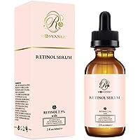 ROSVANEE Serum Retinol para Cara 60ml - Alta Dosis con 2.5% Retinol, ácido hialurónico, Vitamina C y E, Suero Facial Antiedad para Reparación Piel, Cicatriz, Mancha Oscura, Línea Fina y Arrugas …