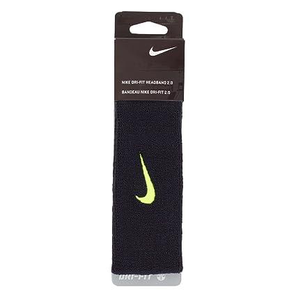 4c677b015da Amazon.com  Nike N.NN.D6.023.OS Dri-Fit Headband 2.0 (Black Volt ...