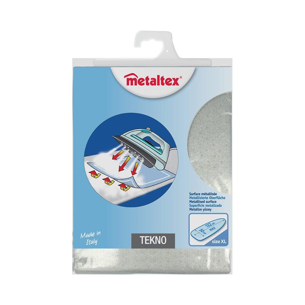 Metaltex 41831210080 CM Tekno Rivestimento per Asse da Stiro in Tessuto, Argento, 140 x 55 cm