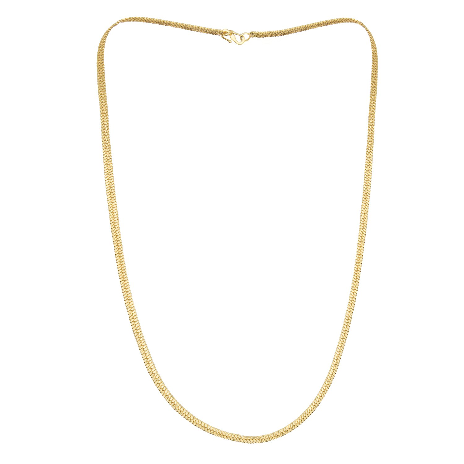 b9826e00a Shining Jewel 24K High Gold Plated Celebrity Inspired Flat Gold Chain for  Men (SJ_2114)