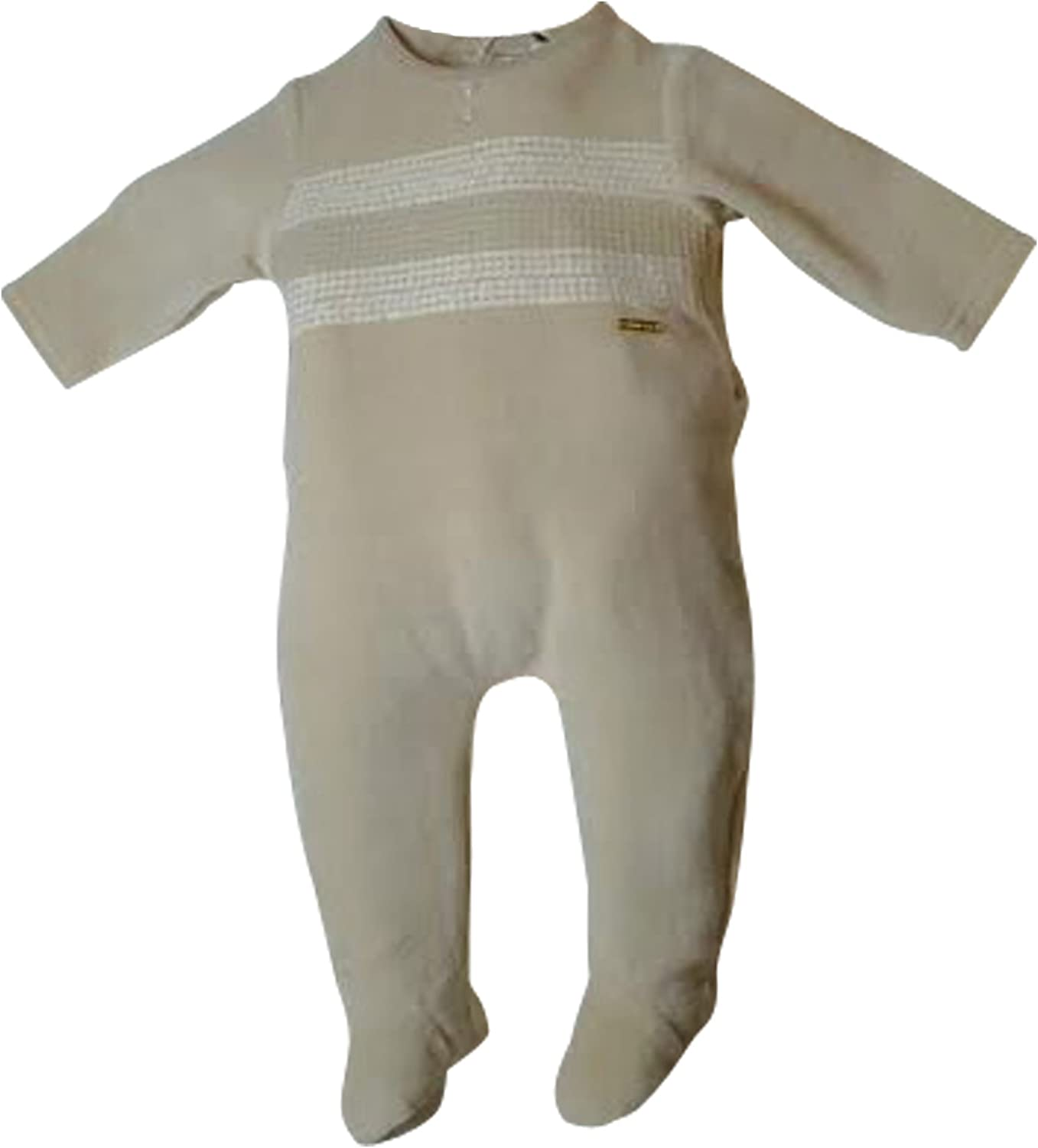 Newborn Footie Clothes Sequence Velour 1 pc Footed Sleeper Pajamas Romper Camel