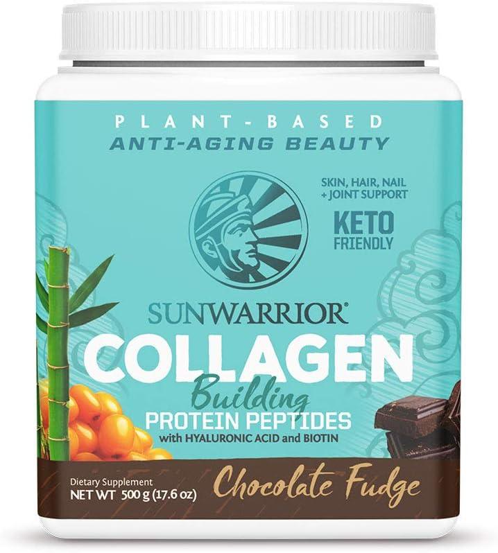Sunwarrior Vegan Collagen Building Protein Peptides with Hyaluronic Acid & Biotin (Chocolate)(Vegan)