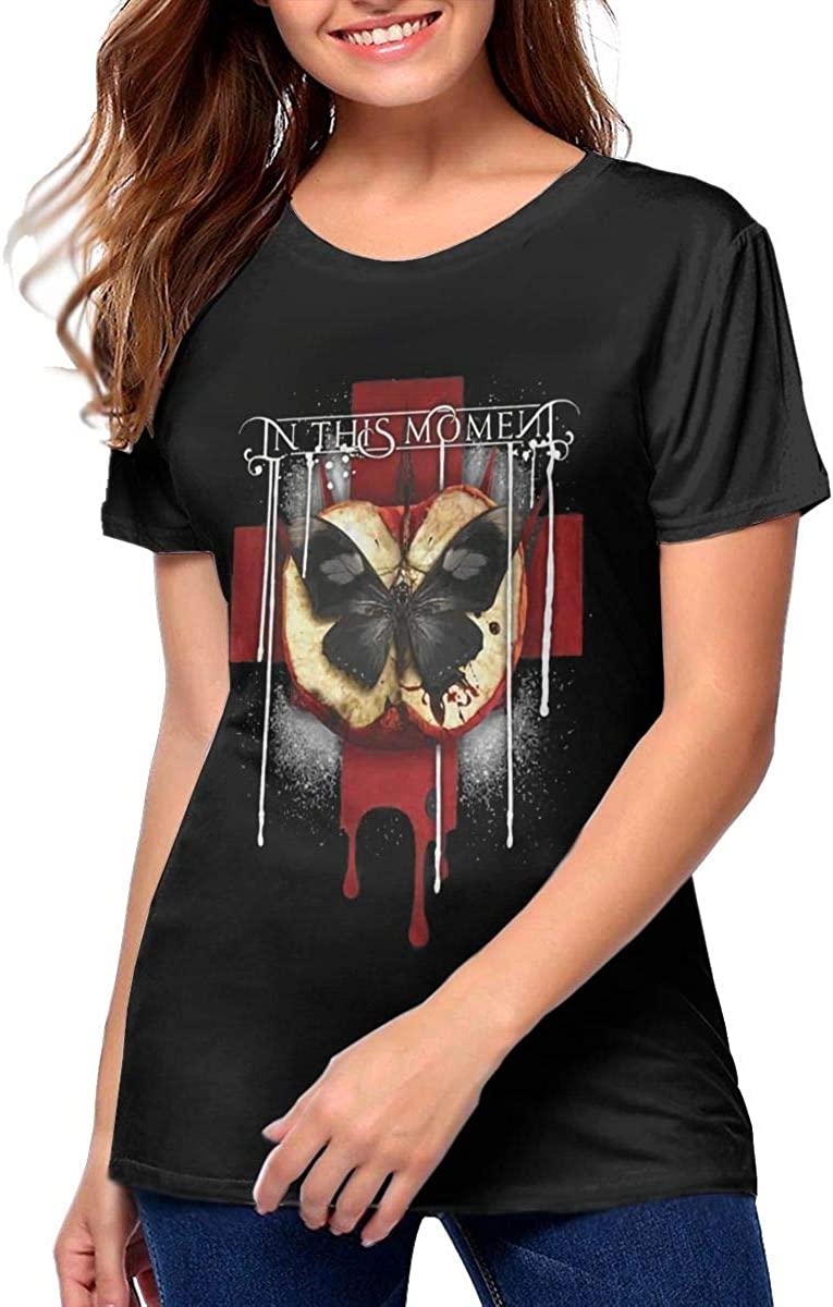 in This Moment Rotten Apple Band Logo Short Sleeve Tshirts Funny Graphic Tees Blouse Women