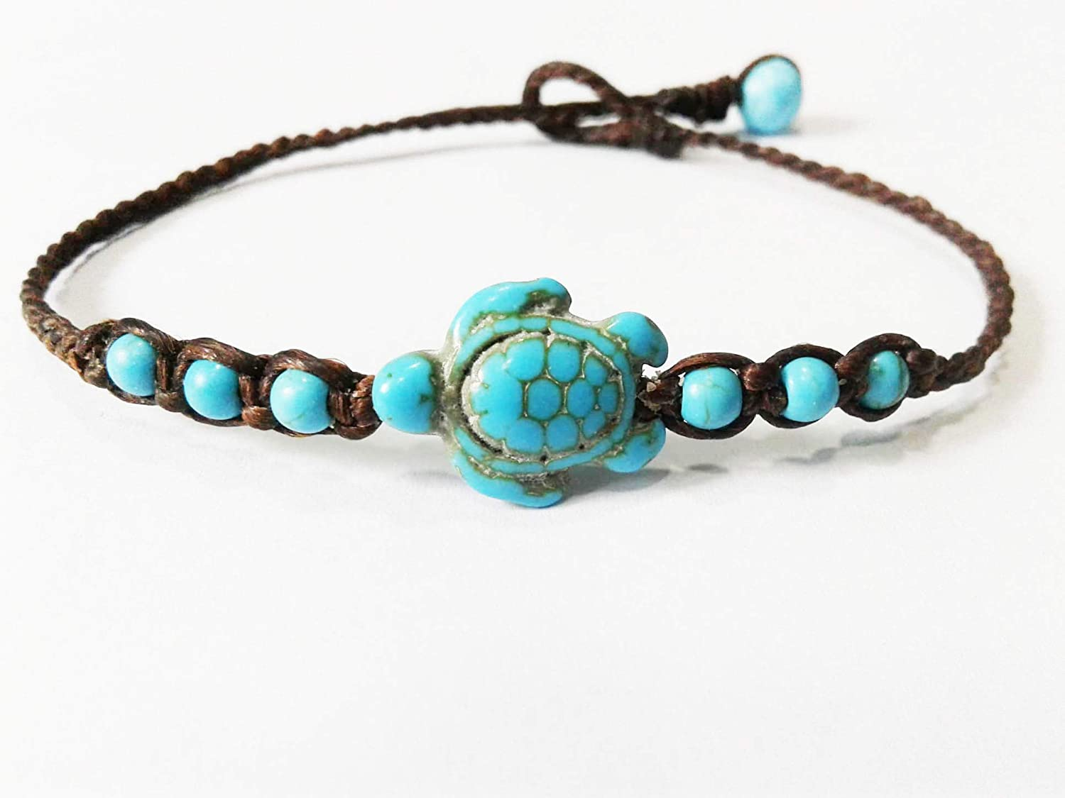 Turtle blue bracelets,Turquoise stones bracelets, It is fashionable for both men and women.