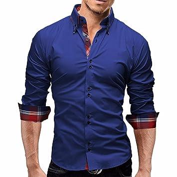 Hombres Blusa,Sonnena ❤ ❤ ❤ Camisa a Cuadros de los Hombres