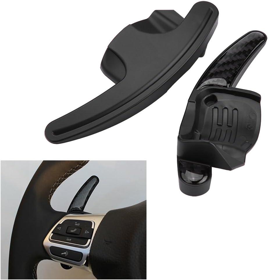 2pcs Paleta del cambio del volante, Palanca del interruptor de cambio de la palanca de cambio de la cuchilla del coche(Fibra de carbon)