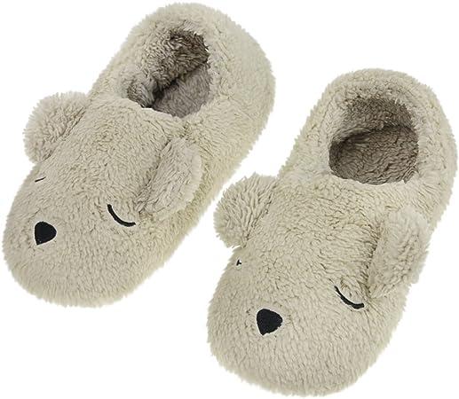Filles Coton Pantoufles Mignon Chaud Hiver Doux Pantoufles Mules Chaussures Taille UK