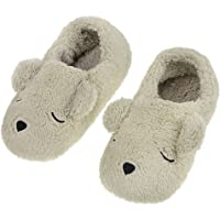 Clobeau Women Winter Warmth Household Soft Plush Bedroom Slippers Wrap Home Slippers