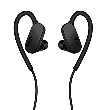 Jarv Wave Runner Wireless Running Workout Bluetooth Neckband Headset with  Mic/Volume Control & Siri/Google Assistant (Black)