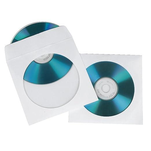 131 opinioni per HAMA Bustine di carta CD/DVD-ROM,confezione da 50, colore: Bianco