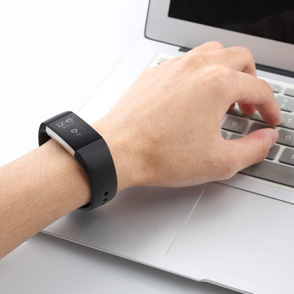 Grande Petit Femme Homme Oenfoto Bracelet Compatible Fit bit Charge 2 Bande en TPU Silicone Souple Sangle de Remplacement Reglables Sport Accessorie